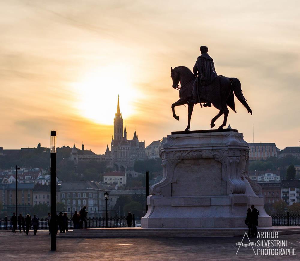 hongrie budapest statue equestre
